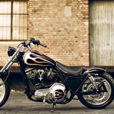 Harley Davidson moottoripyörä.