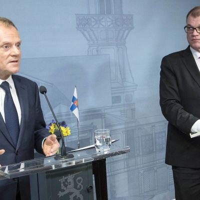 Donald Tusk ja Juha Sipilä