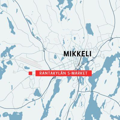 Kartta Rantakylä Mikkeli