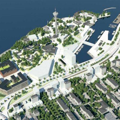 Tampereen kaupungin suunnittelugrafiikkaa