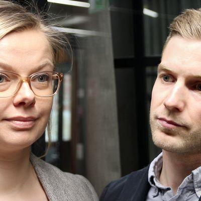 Tulevaisuudentutkijat Laura Pouru ja Otto Tähkäpää.