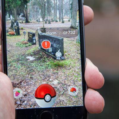 Pokemon GO Lappeenrannan vanhalla hautausmaalla