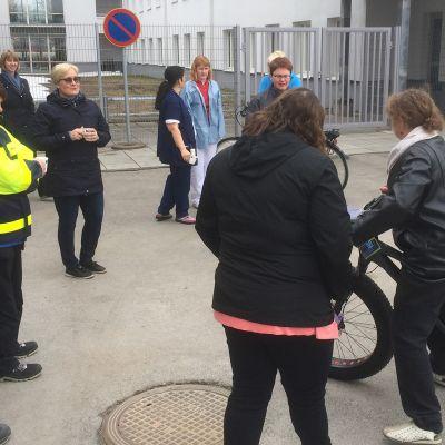 L-PKS:n pyöräparkin avajaistilaisuus keskiviikkona 3. toukokuuta 2018.