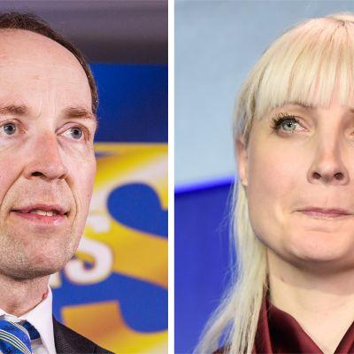Jussi Halla-aho ja Laura Huhtasaari.
