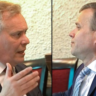 Orpo ja Rinne äityivät sanasotaan politiikan toimittajien edessä