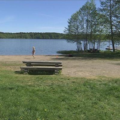 Solvikin uimapaikka Katumajärvellä