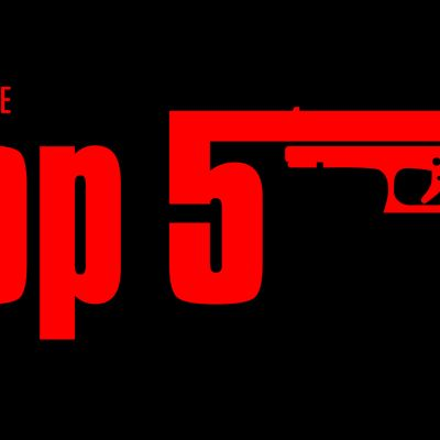 Teksti Top 5 ja pistooli