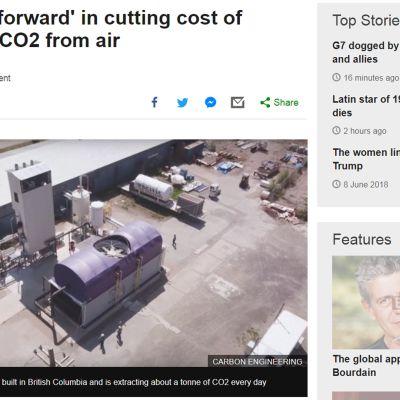 Kuvakaappaus bbc.com -sivuilta jutusta, joka käsittelee aihetta.