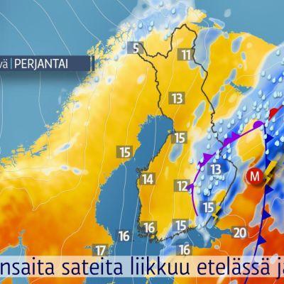 Sateet ja tuulet väistyvät viikonlopun aikana