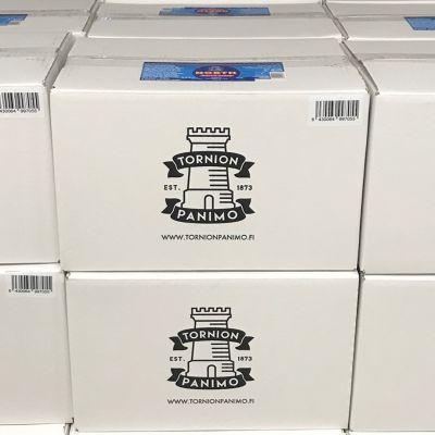 Tornion Panimon laatikoita.