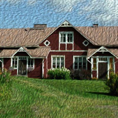Kuvassa Niskavuoren talo