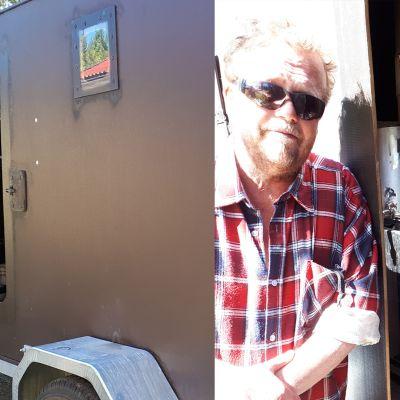Kimmo Tuppuraisen kehittelemä ja rakentama saunavaunu mahdollistaa myös majoittautumisen