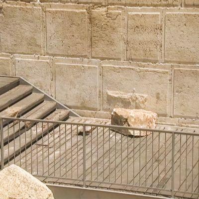 Jerusalemin Itkumuurista tippunut kivenjärkäle.
