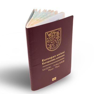 Finskt pass.