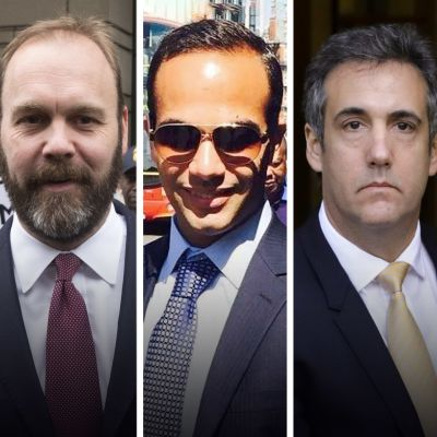 Kuvassa Vasemmalta Michael Flynn,  Rick Gates, George Papadopoulos, Michael Cohen,  Paul Manafort.