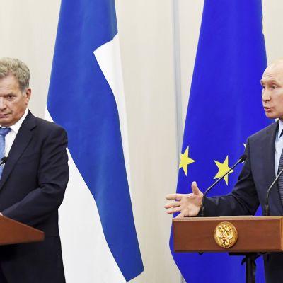 Vladimir Putin ja Sauli Niinistö Sotshissa.