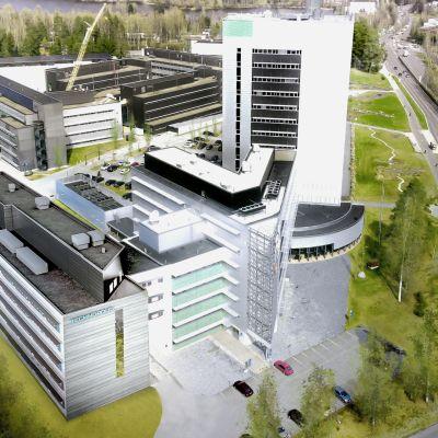Havainnekuva Kuopion Technopoliksen tulevasta rakennuksesta.