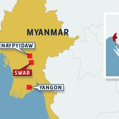 Myanmarin kartta