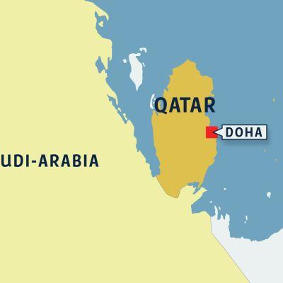 Qatar kartalla.
