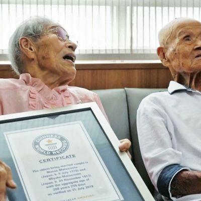 Maailman vanhin pariskunta löytyy Japanista