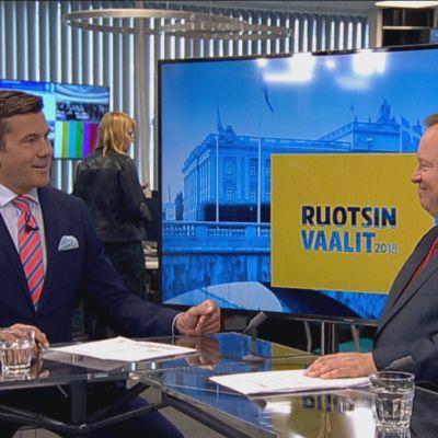 Ylen ohjelma Ruotsin vaalituloksesta