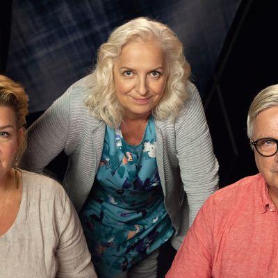 Kirjailija Annina Holmberg ja saattohoitolääkäri Juha Hänninen Maarit Tastulan vieraina.