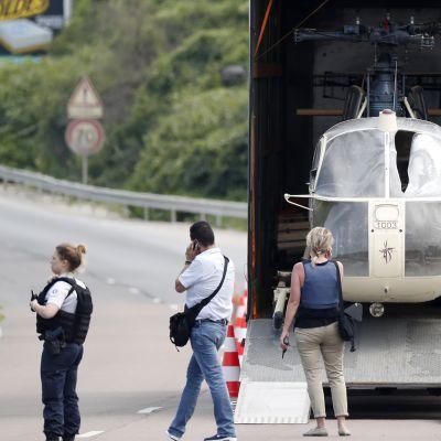 Tutkimusryhmä siirsi Redoine Faïdin paossaan käyttämää helikopteria heinäkuun alussa.
