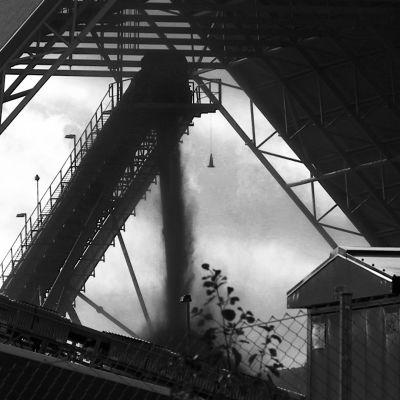 Raahen kultakaivoksen kaivosaluetta.