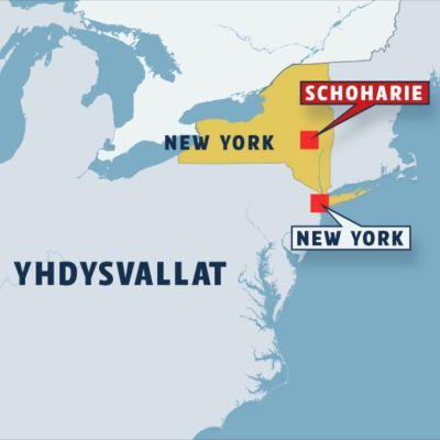 Karta över delstaten New York