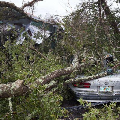 Hurrikaani Michaelin tuhoja Panama Cityssä, Floridassa 10. lokakuuta.