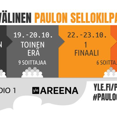 Kansainvälinen Paulon sellokilpailu järjestetään 15.-25.10. Seuraa kilpailuita Yle Areenassa ja Yle Radio 1:ssä.