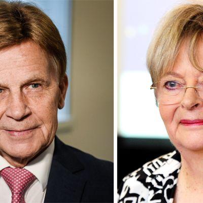 Mauri Pekkarinen ja Liisa Jaakonsaari.
