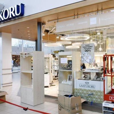 Laatukorun myymälä kauppakeskus Jumbossa Vantaalla 27. lokakuuta.