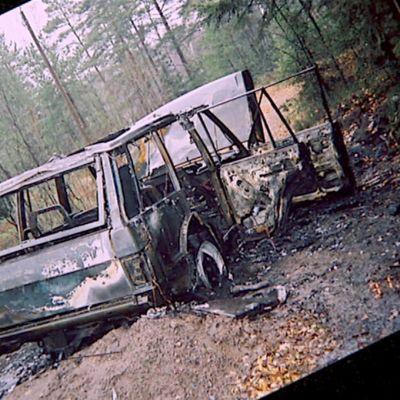 Poltettu Range Rover -auto
