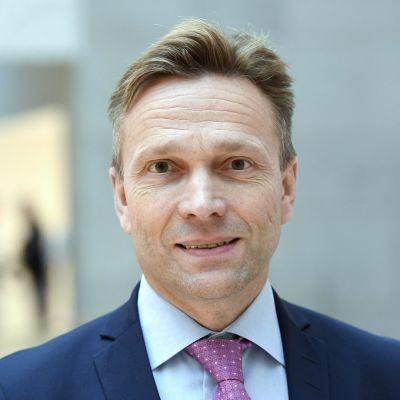 OP Ryhmän pääjohtaja Timo Ritakallio esitteli finanssiryhmänsä osavuosikatsauksen Helsingissä 31. lokakuuta