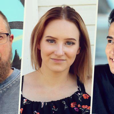 Kuvassa Tuomas Kyrön, Nea Kouhian ja Mustafan kuvat