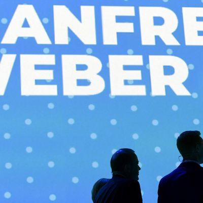 EU-komission puheenjohtajaksi tähtäävät Alexander Stubb ja Manfred Weber kohatasivat Helsingissä 7. marraskuusta.