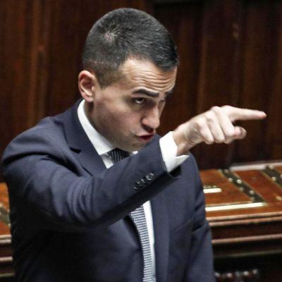 Italian varapääministerinä toimiva Viiden tähden liikkeen johtaja Luigi Di Maio.
