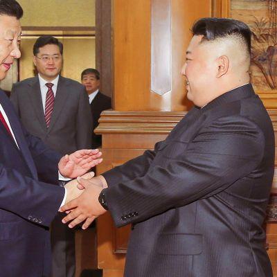Xi Jinping ja Kim Jong-un.