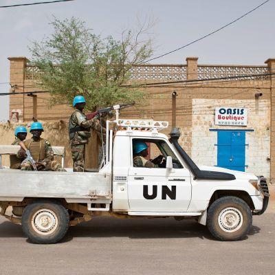 Rauhanturvaajia Timbuktussa.