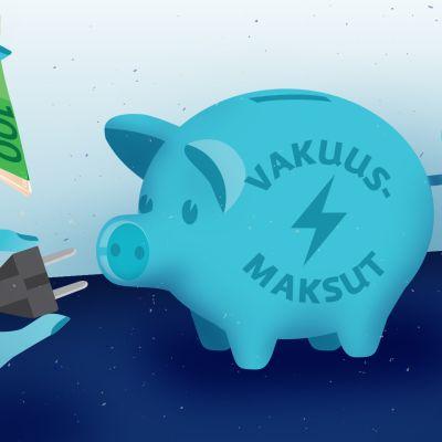 Sähkö Sähköfirma vakuus säästäminen  maksuhäiriömerkintä