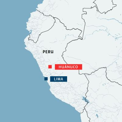 Huánuco Perun kartalla.