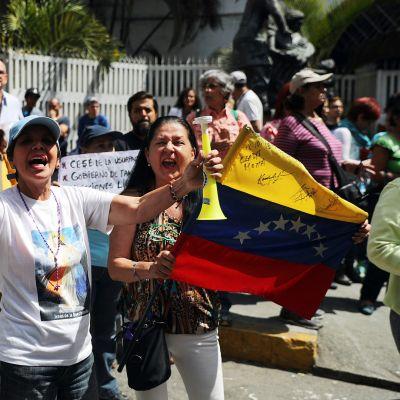 Guaidoa tukeva mielenosoitus Caracasissa