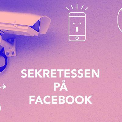 bild med texten, Sekretessen på Facebook.