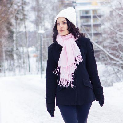 Anna Likos talvisissa maisemissa.