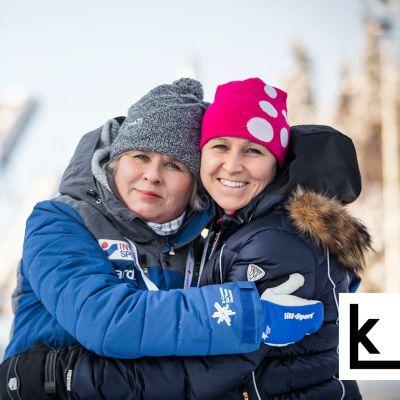Aino-Kaisa Saarinen ja Leena Huovinen