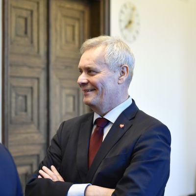 Antti Rinne eduskunnassa 1. maaliskuuta.