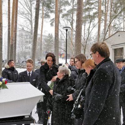 Matti Nykänen hautajaissaattue