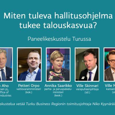 Miten tuleva hallitusohjelma tukee talouskasvua? Paneelikeskustelu Turussa