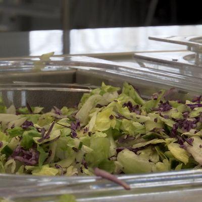 Kuva salaattipöydästä